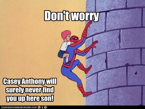 Casey Anthony castle climbing kids Spider-Man Super-Lols