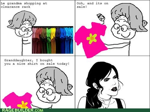 Awkward clothes granddaughter grandma old people Rage Comics - 4948070656