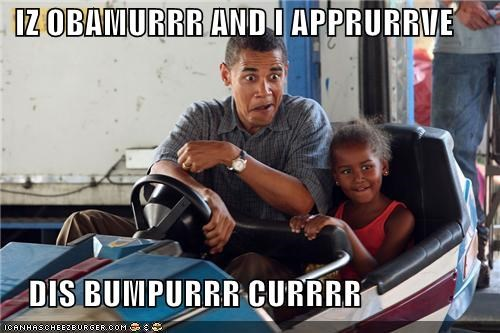 bumper car Celebriderp obama president that face - 4948100608