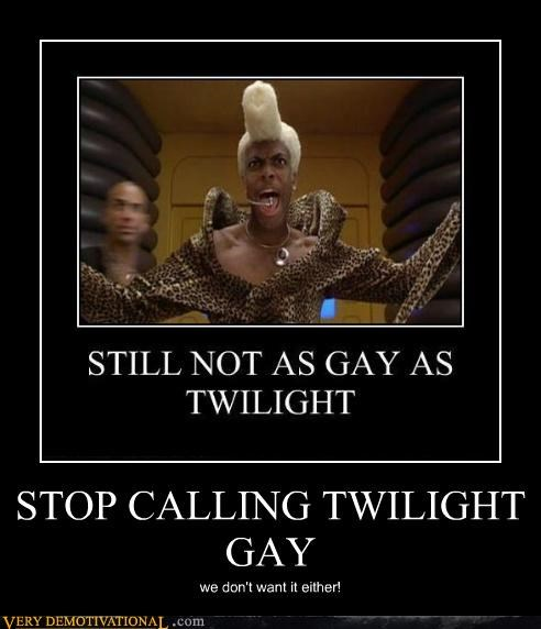 STOP CALLING TWILIGHT GAY we don't want it either!