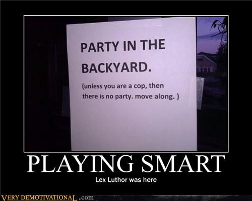 back yard,hilarious,lex luthor,Party,smart