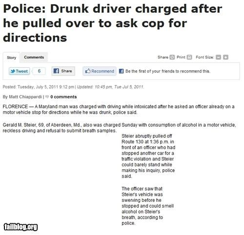 alcohol drinking dui failboat g rated Probably bad News stupid criminals - 4948500480