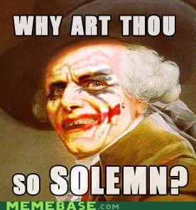 batman joker Joseph Ducreux scars serious smile solemn - 4948852480