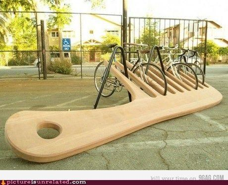 art bike comb sculpture wtf - 4948936960