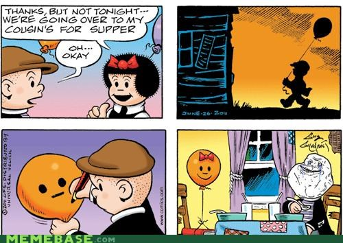 comics,cousins,forever alone,friends,Nancy,sluggo
