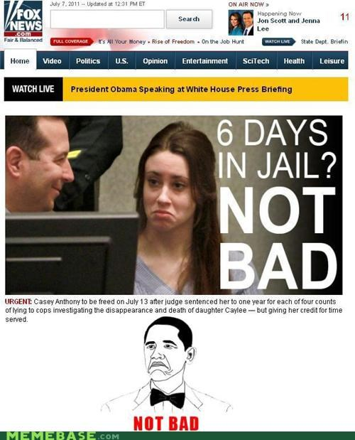 Casey Anthony,faces,fox,Memes,news,not bad,obama