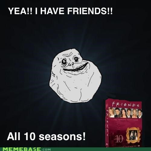 DVD,episodes,forever alone,friends,seasons,television