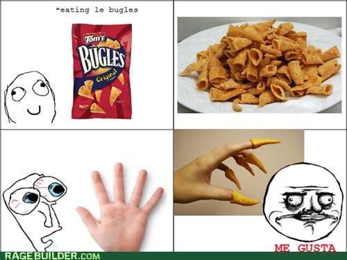 bugles,fingers,me gusta,Rage Comics