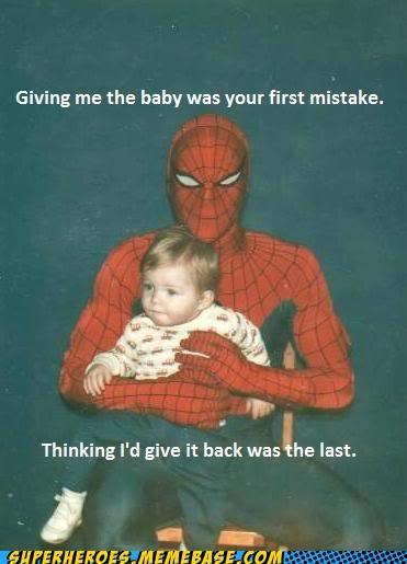family photo kids Spider-Man Superhero IRL wtf - 4949508864