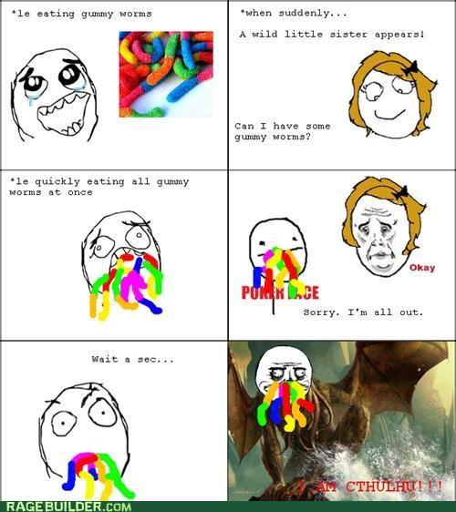 cthulhu gummy worms me gusta Okay Rage Comics - 4949609984