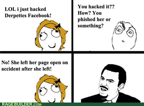 facebook hacked phishing Rage Comics - 4949619456