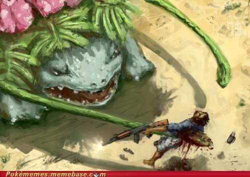 attack,venusaur,vine whip