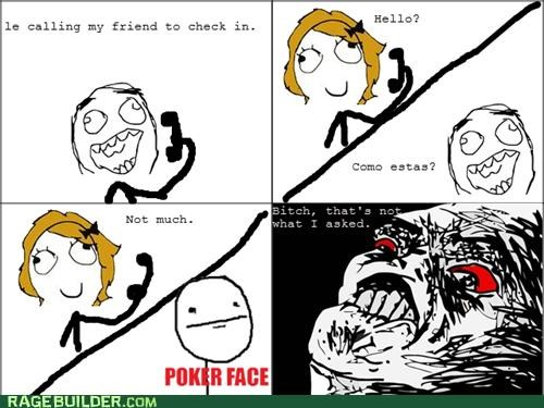FAIL,poker face,Rage Comics,spanish