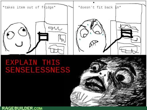 fitting food fridge Rage Comics senselessness - 4949683200