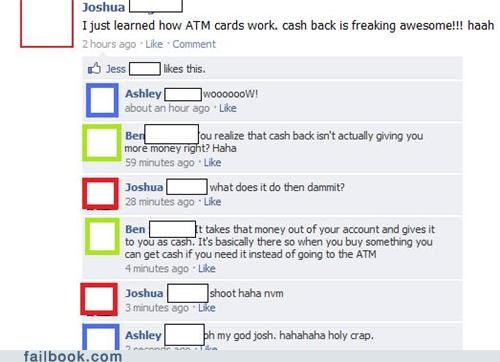 ATM money not how that works really