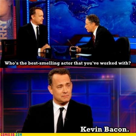 celebutard,jon stewart,kevin bacon,the daily show,tom hanks
