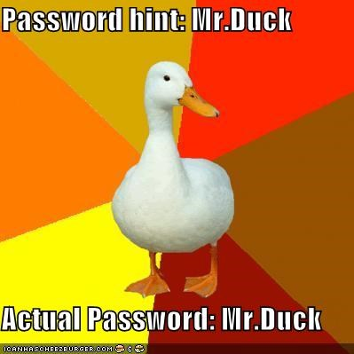 computers,duck,password,Technologically Impaired Duck