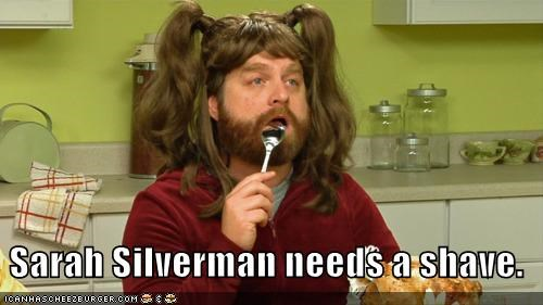 actor celeb sarah silverman funny Zach Galifianakis - 4949934592