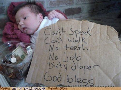 baby cute homeless IRL - 4950027776