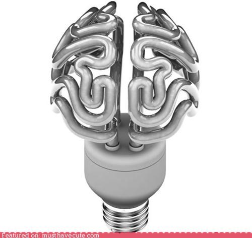 brain,compact fluorescent,light bulb,smart