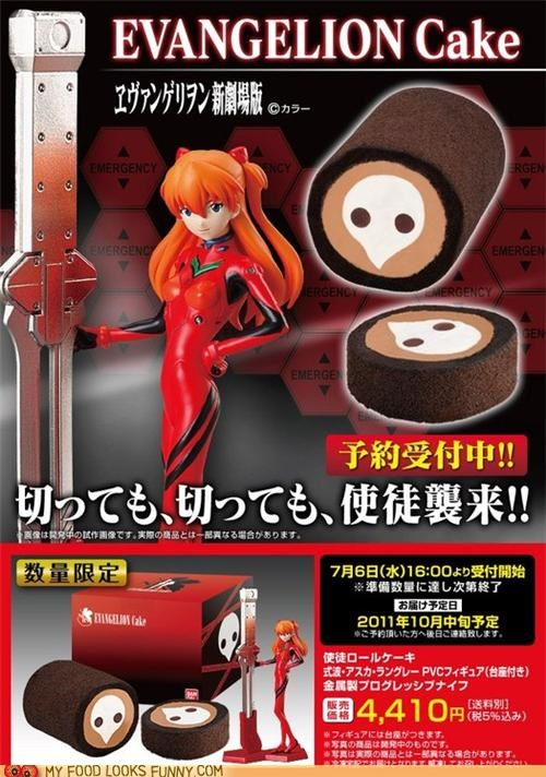 anime cake cartoons cream evangelion roll