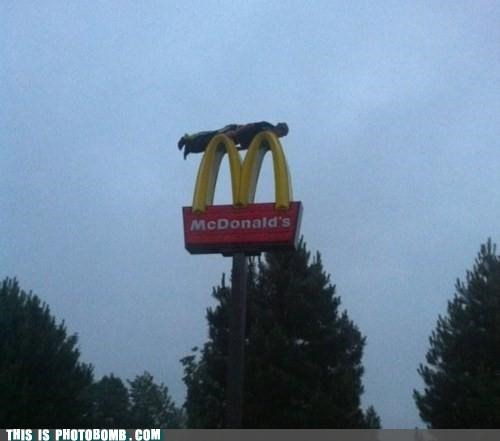 golden arches McDonald's plank Planking sign - 4950116864