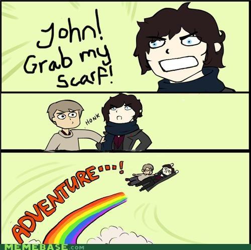 adventure britain grab Memes scarf Sherlock - 4950406400