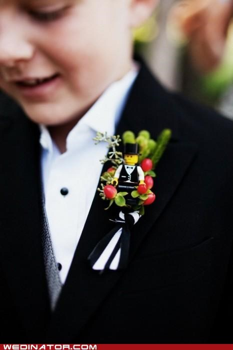 Boutonniere,children,funny wedding photos,Hall of Fame,legos