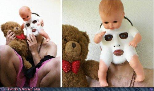 creepy doll mask - 4950798080