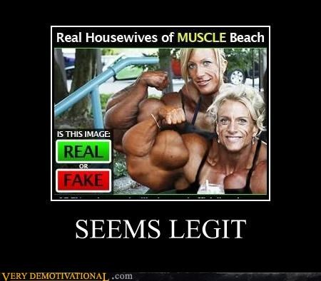 fake,hilarious,muscles,real,seems legit