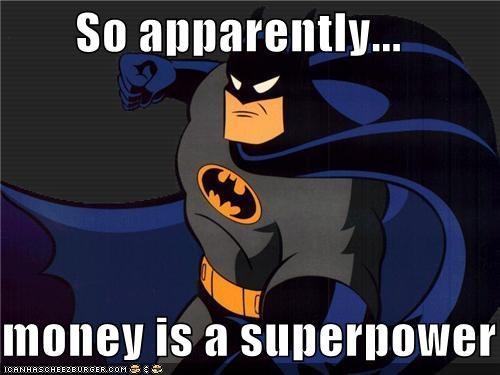 animated series batman fists money Super-Lols - 4951328256
