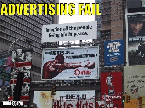 billboard failboat g rated juxtaposition signs war