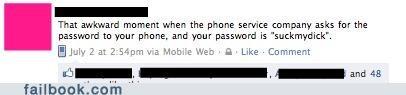 phone company passwords - 4951839232