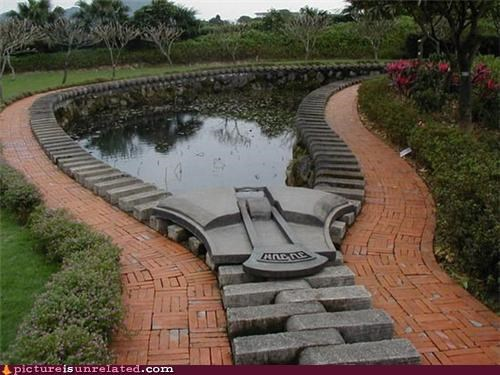 bricks garden pond wtf zipper - 4952086272