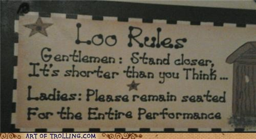 bathroom IRL loo rules sign - 4952114176