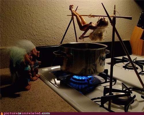 Barbie canabalism cooking food trolls wtf - 4952188928