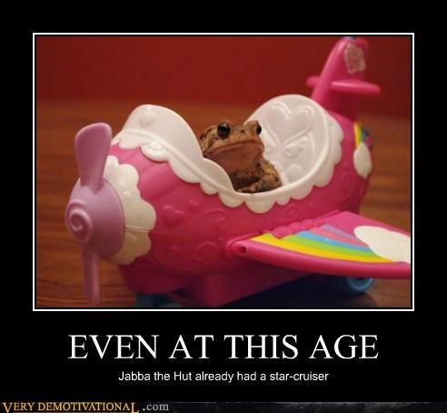 EVEN AT THIS AGE Jabba the Hut already had a star-cruiser