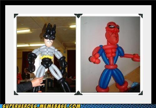 awesome balloon animals batman Random Heroics Spider-Man - 4952299776