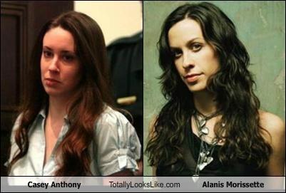 alanis morissette,brunette,Casey Anthony
