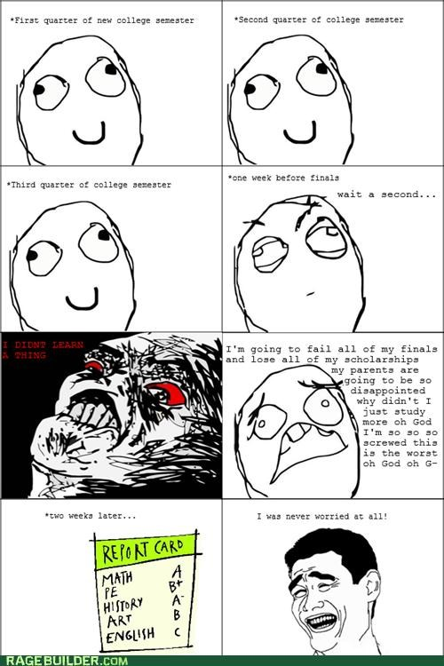 college failing fear grades passing Rage Comics - 4952709120