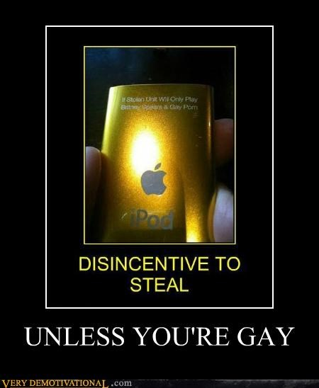 gay,hilarious,ipod,steal,wtf