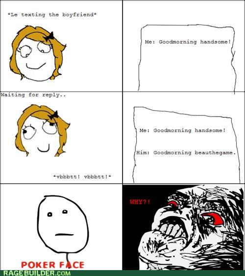 beautiful handsome poker face Rage Comics the game - 4952898560