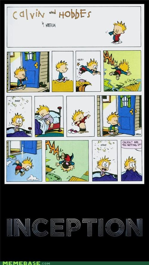 calvin,comic,dream,dreams,hobbes,Inception