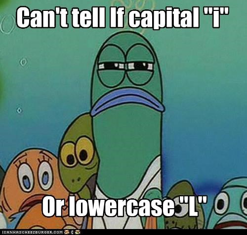 cant tell fry I l letters lowercase m rn - 4952947712