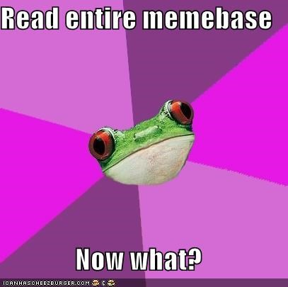 beginning,foul bachelorette frog,memebase,meta,reading