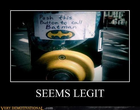 batman,crosswalk,hilarious,seems legit,signal,wtf