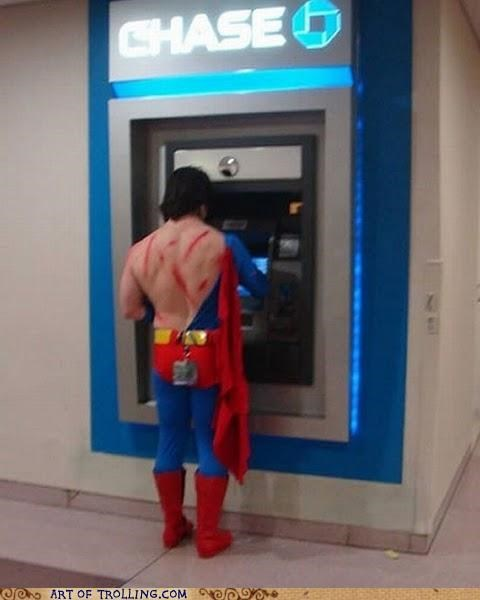 ATM IRL messed up superman - 4953140992