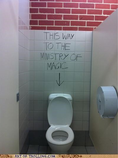 Harry Potter,IRL,ministry of magic,toilet