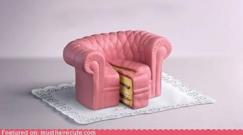 cake,couch,epicute,furniture,pink