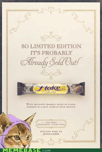 chocolate,eaten,flake,food,Hipster Kitty,limited edition
